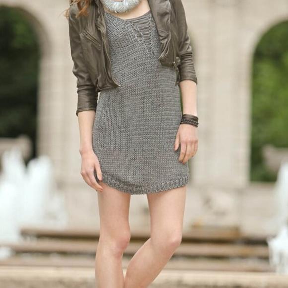 Diesel Dresses & Skirts - DIESEL DeVamp Knit Dress Low Back Grey EUC